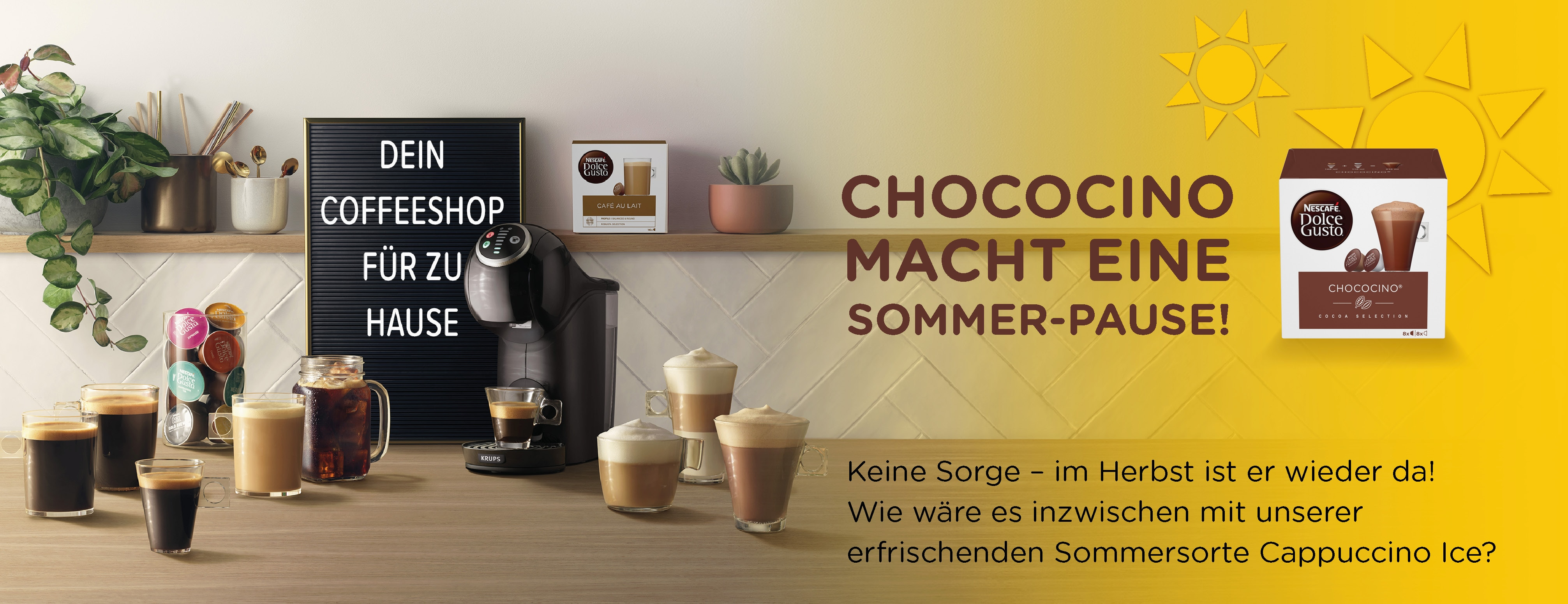 Chococino Sommerpause